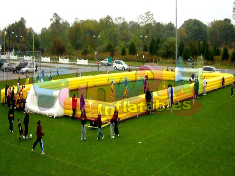 Commercial football games kids inflatable soccer field inflatable soccer stadium
