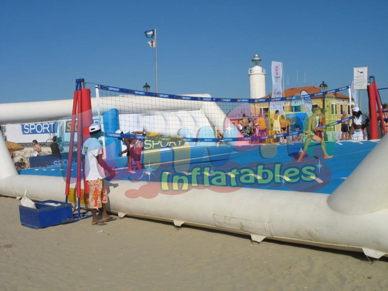Outdoor campo Volley inflatable volleyball court  giant inflatable football game