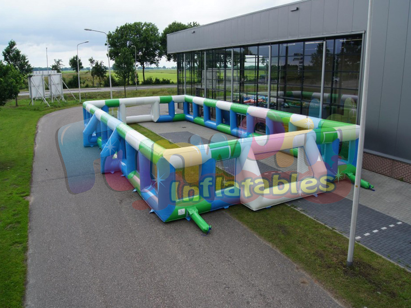 Giant boarding inflatable soccer ball game sportspower inflatable soccer field for sale