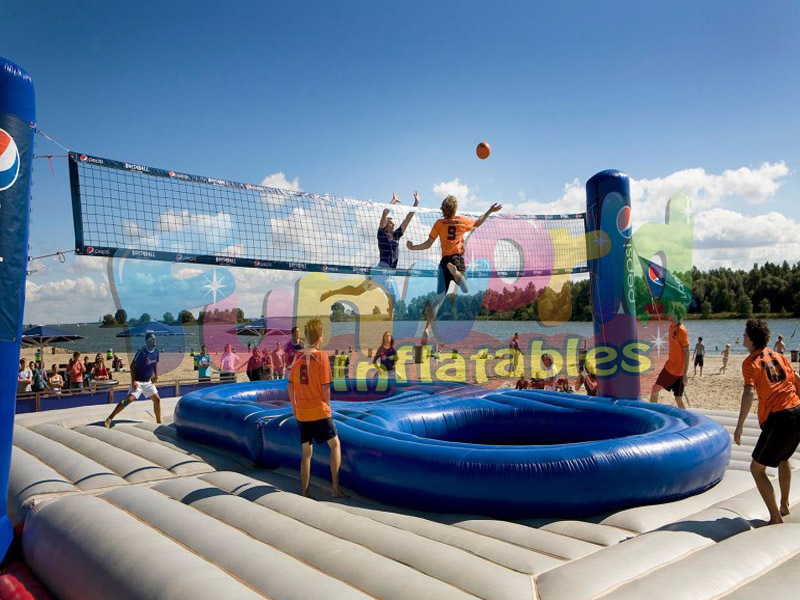 Bossaball court for adult inflatable bossaball court volleyball inflatable playing field