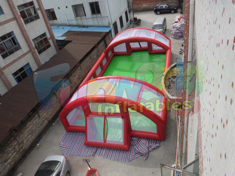 Large inflatable football field for sale inflatable soccer arena
