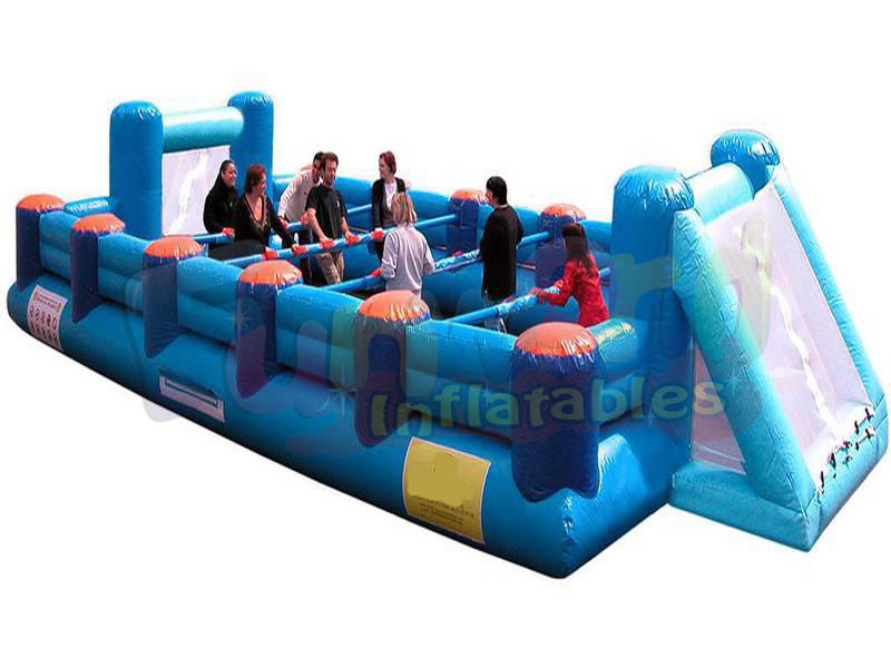 New bubble bump human foosball table inflatable baby foot