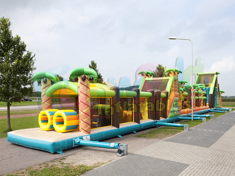Outdoor giant inflatable game boot camp inflatable obstacle course  mega obstacle course jungle