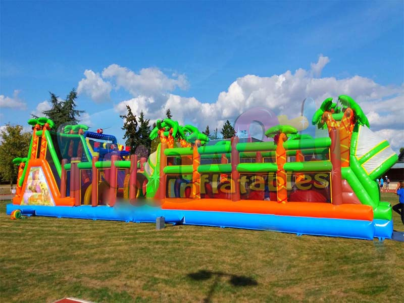 Giant inflatable sports challeng obstacle games inflatable wipeout