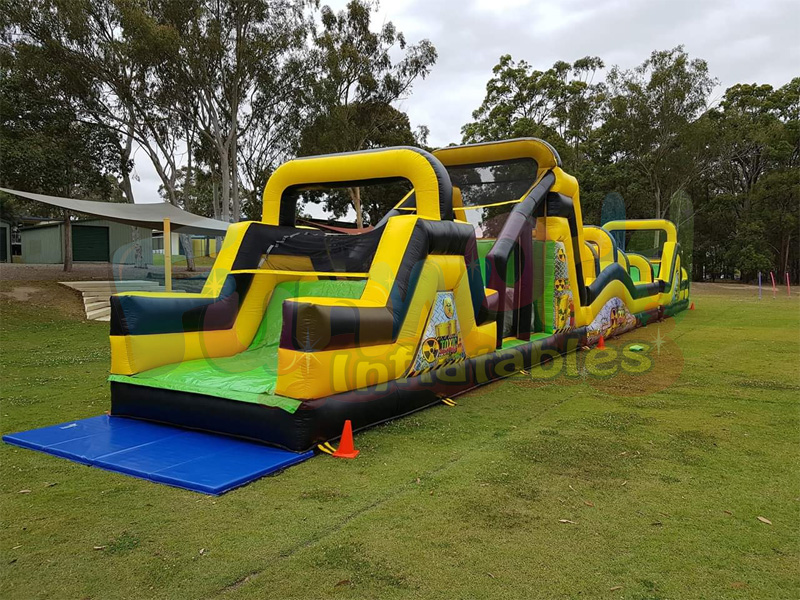 adult bounce house adult inflatable obstacle course inflatable wipeout course for sale