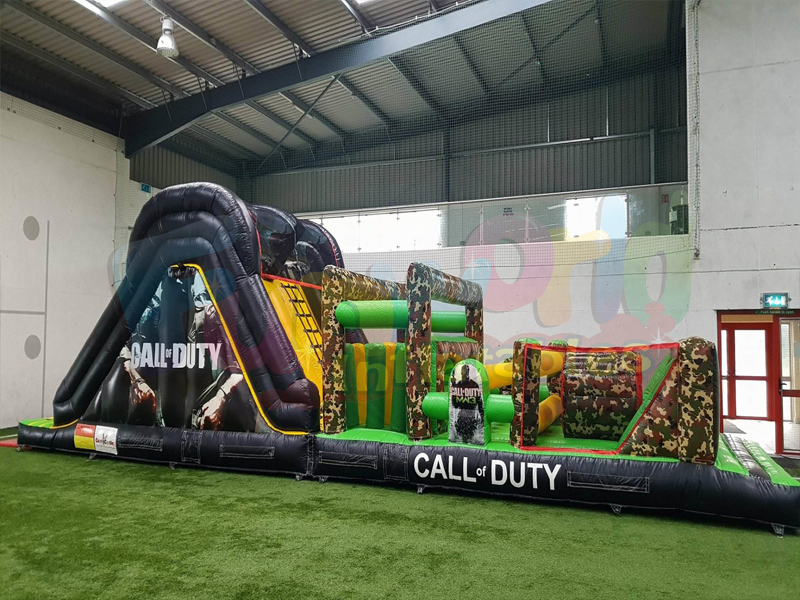 Massive inflatable challenge jumping castles Call of Duty Inflatable Assault Obstacle Course