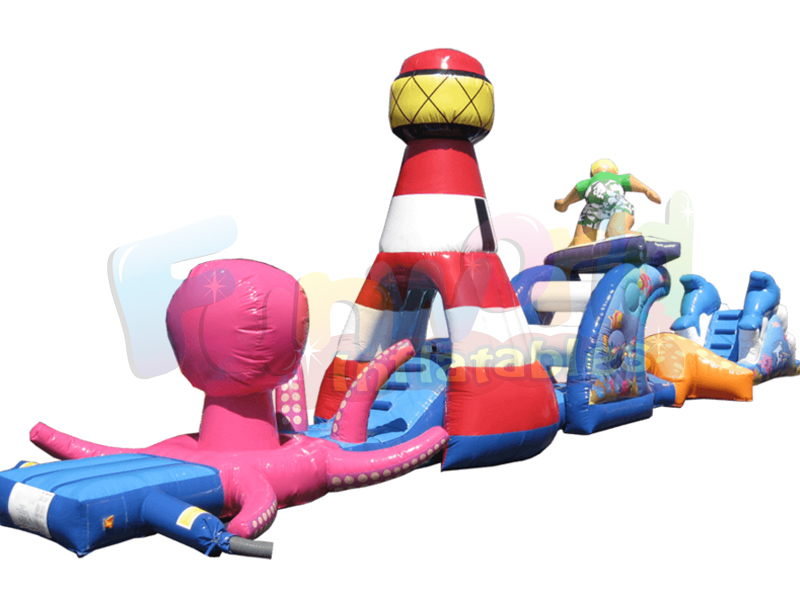Big inflatable pool toys inflatable floating obstacle course pool blow up toys