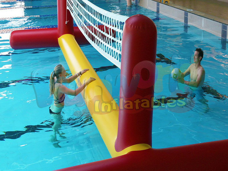 Blow up pool toys water floating volleyball court sealed inflatable ventura volleyball game