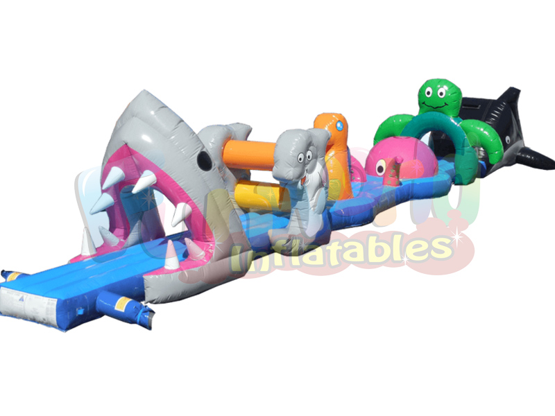 Giant inflatable floats pool inflatable toys floating obstacle course sport game