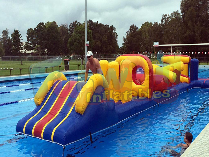 Large pool floats aquatic inflatable obstacle course fun pool toys on sale