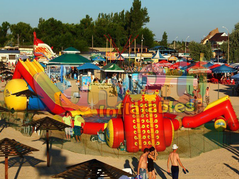 Summer used giant inflatable toys inflatable water slide cheap blow up pools