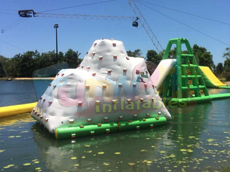 Lake play equipment swimming inflatables iceberg climbing wall swimming pool sales