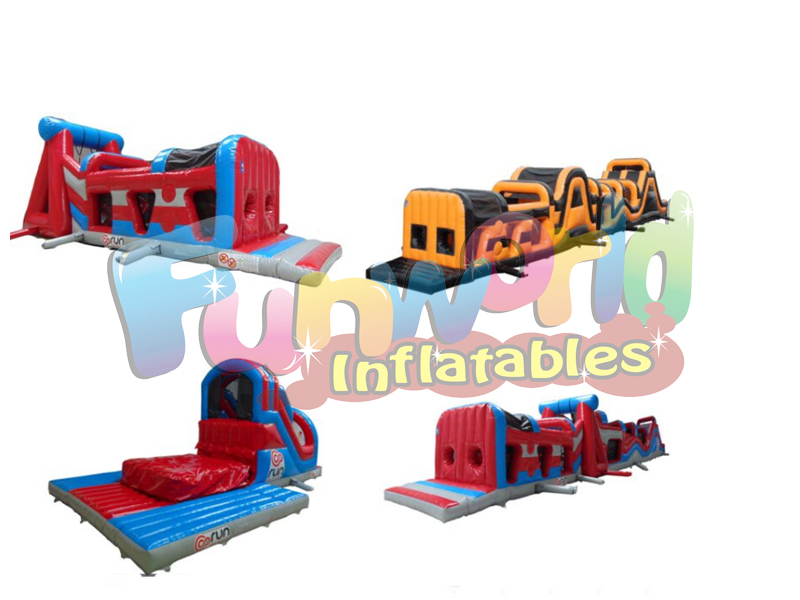 Largest sport inflatable jumpy house large inflatable slide giant inflatable obstacle course