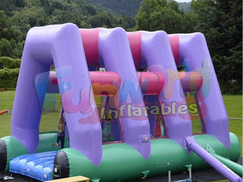 Hot giant inflatable obstacle course bounce house kids inflatable sale
