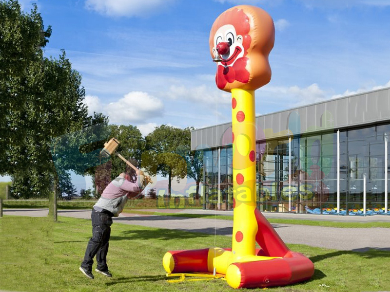 High-striker game inflatable hammer striker inflatable smash power games with hammer