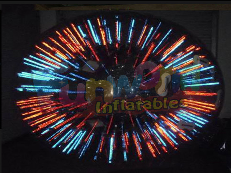 Commercial hamster ball inflatable LED knocker roll inside inflatable ball for entertainment