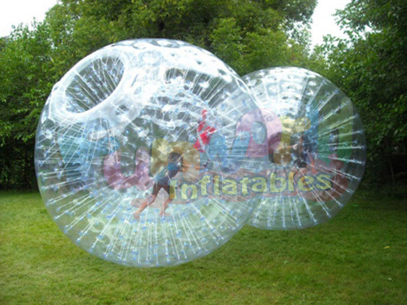 Grass inflatable human hamster zorbing ball for adults crazy soccer bubble zorbing for kids