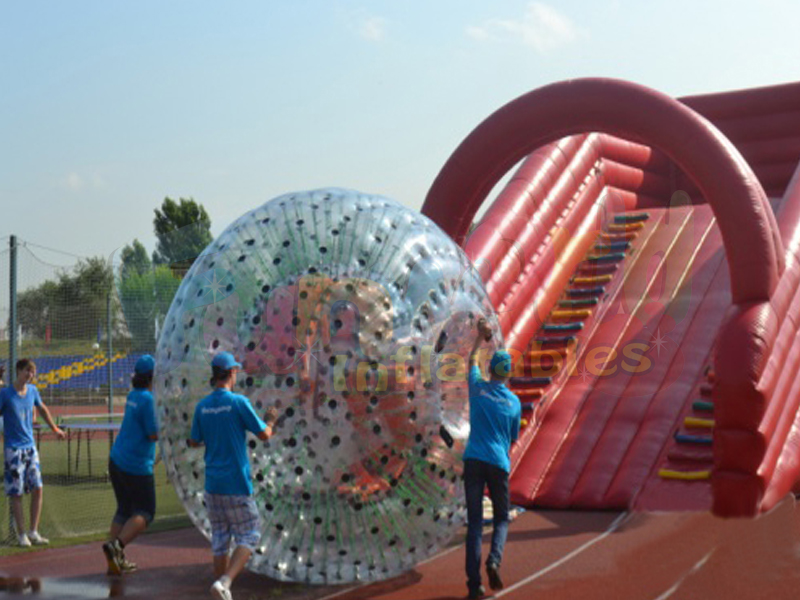 Blow up body bubble zorb giant ball you can go inside inflatable hill for fun