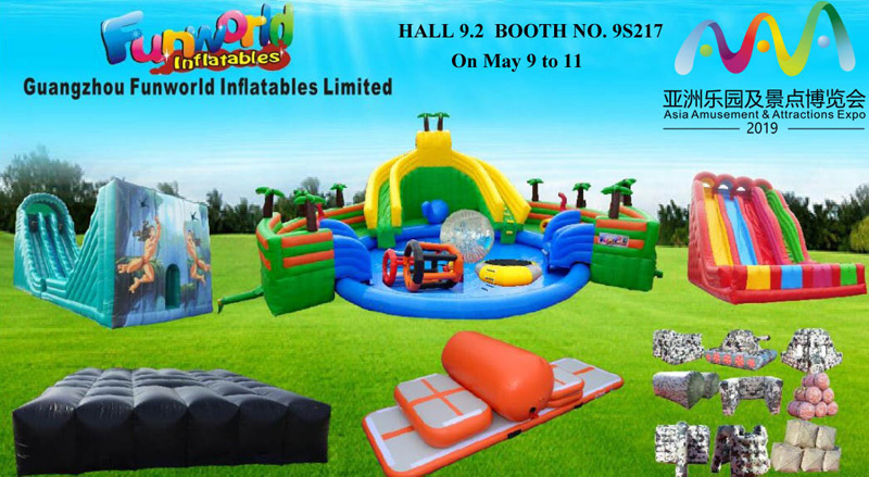 Our company Funworld inflatables limited will attend the Guangzhou ASIA AMUSEMENT ATTRACTION EXPO on
