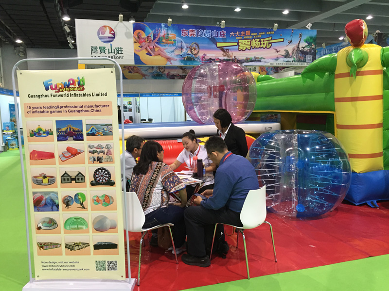 Guangzhou funworld inflatables limited attend the AAA show on 9th, May 2019
