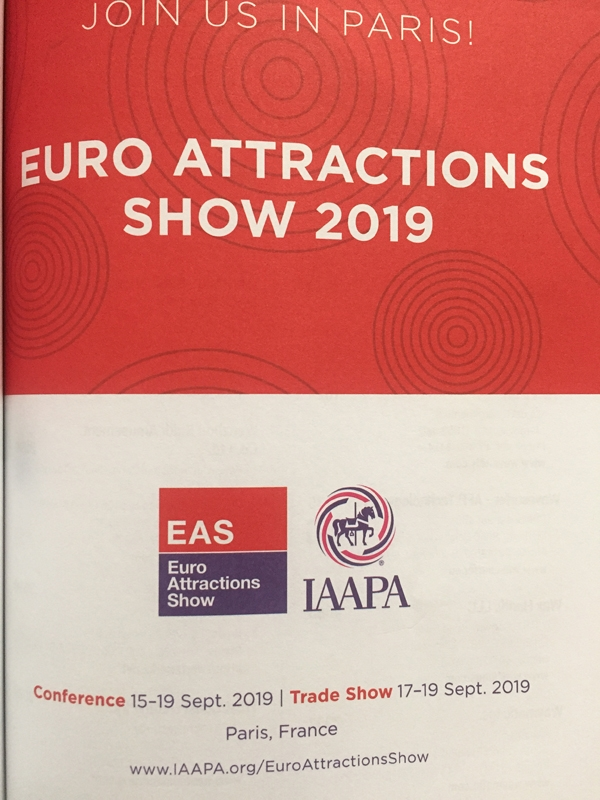 Guangzhou funworld inflatables limited will attend the EAS Euro Attractions Shows  in Paris  2019